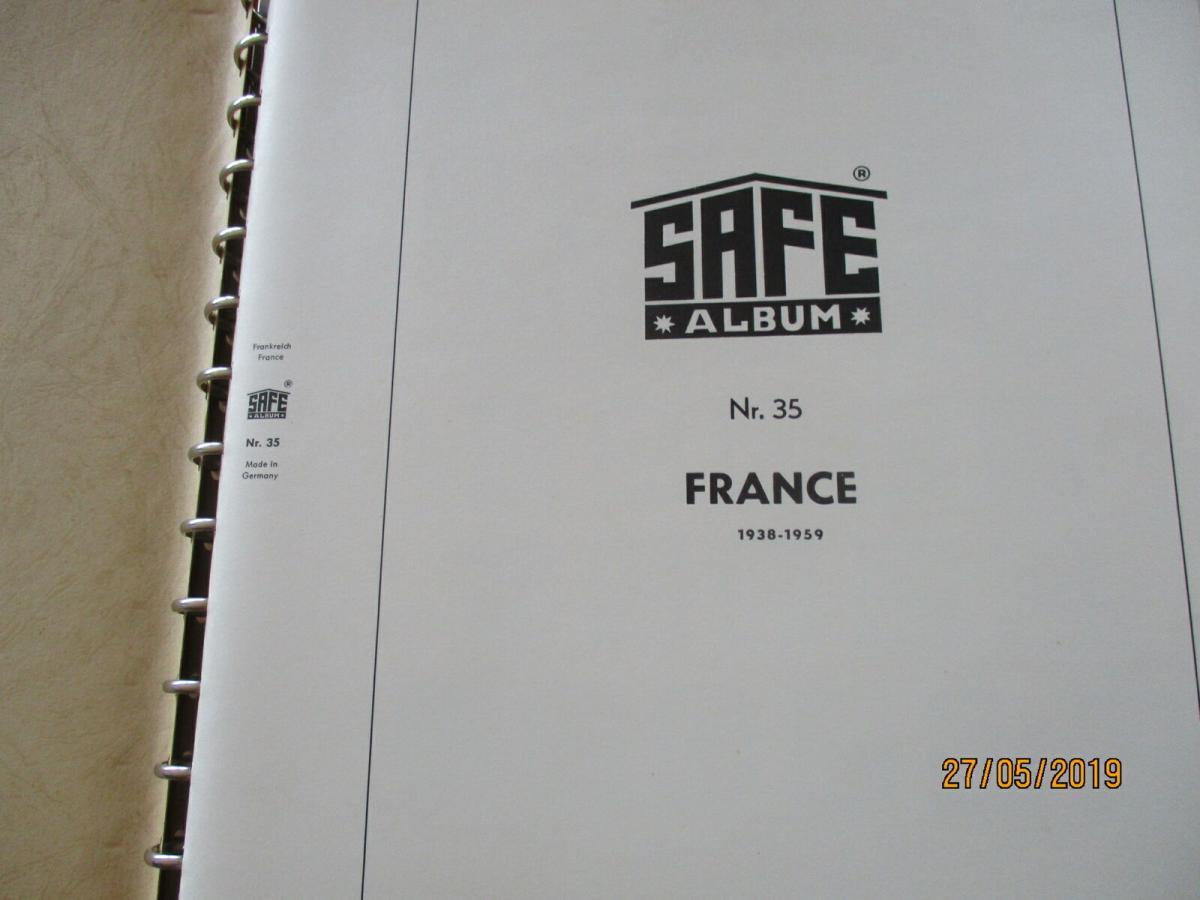 Frankreich 1938-1959 SAFE Album altes System 5