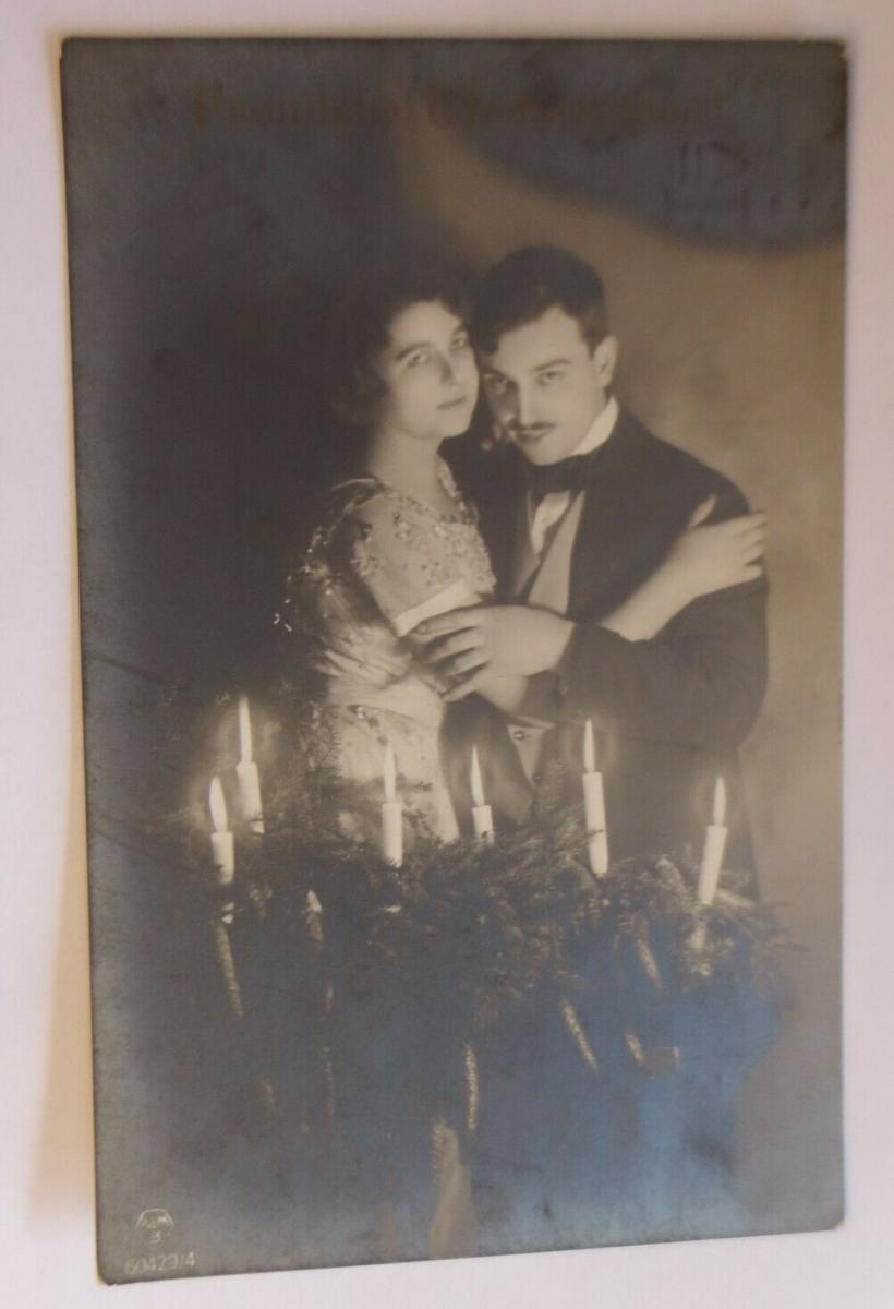 Weihnachten, Männer, Frauen, Mode, Adventskranz, Kerzen,   1917  ♥ (28968) 0