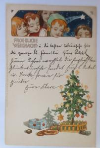 Weihnachten, Jugendstil, Kinder, Mode, Weihnachtsbaum, 1903, M & B  ♥  (21571)