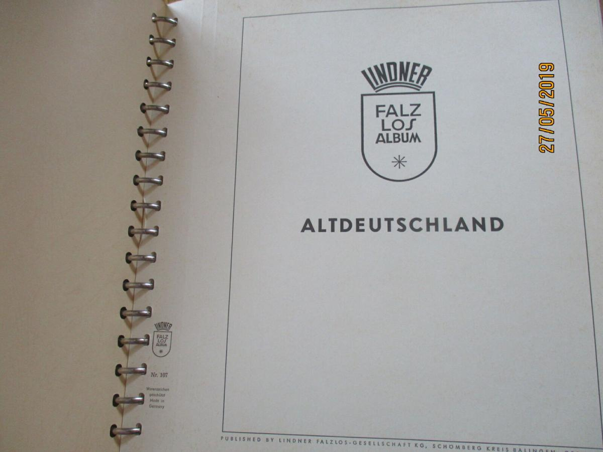 Deutsche Kolonien + Altdeutschland (ohne Bayern und Württemb.) Lindner Album 2