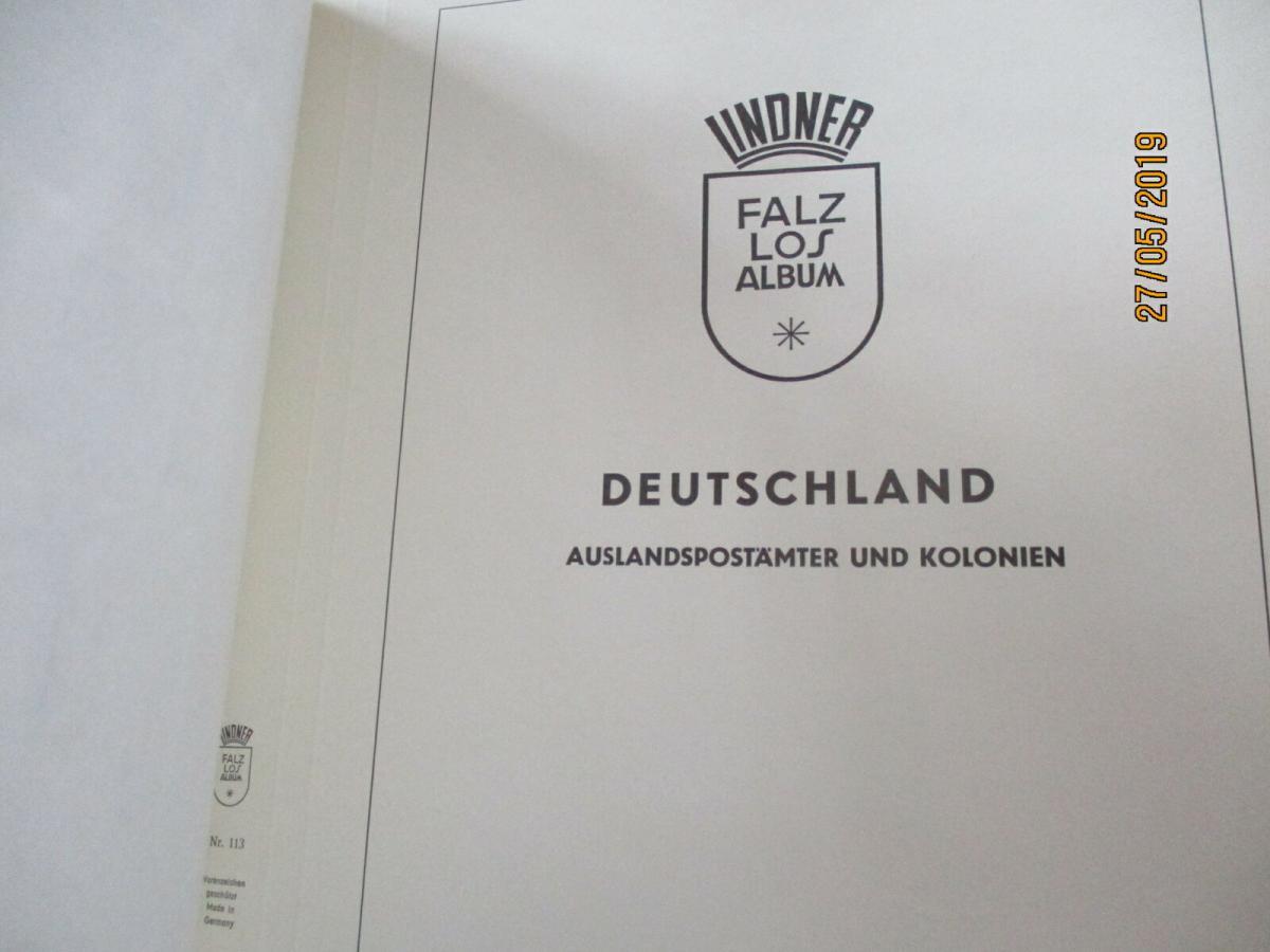 Deutsche Kolonien + Altdeutschland (ohne Bayern und Württemb.) Lindner Album 7