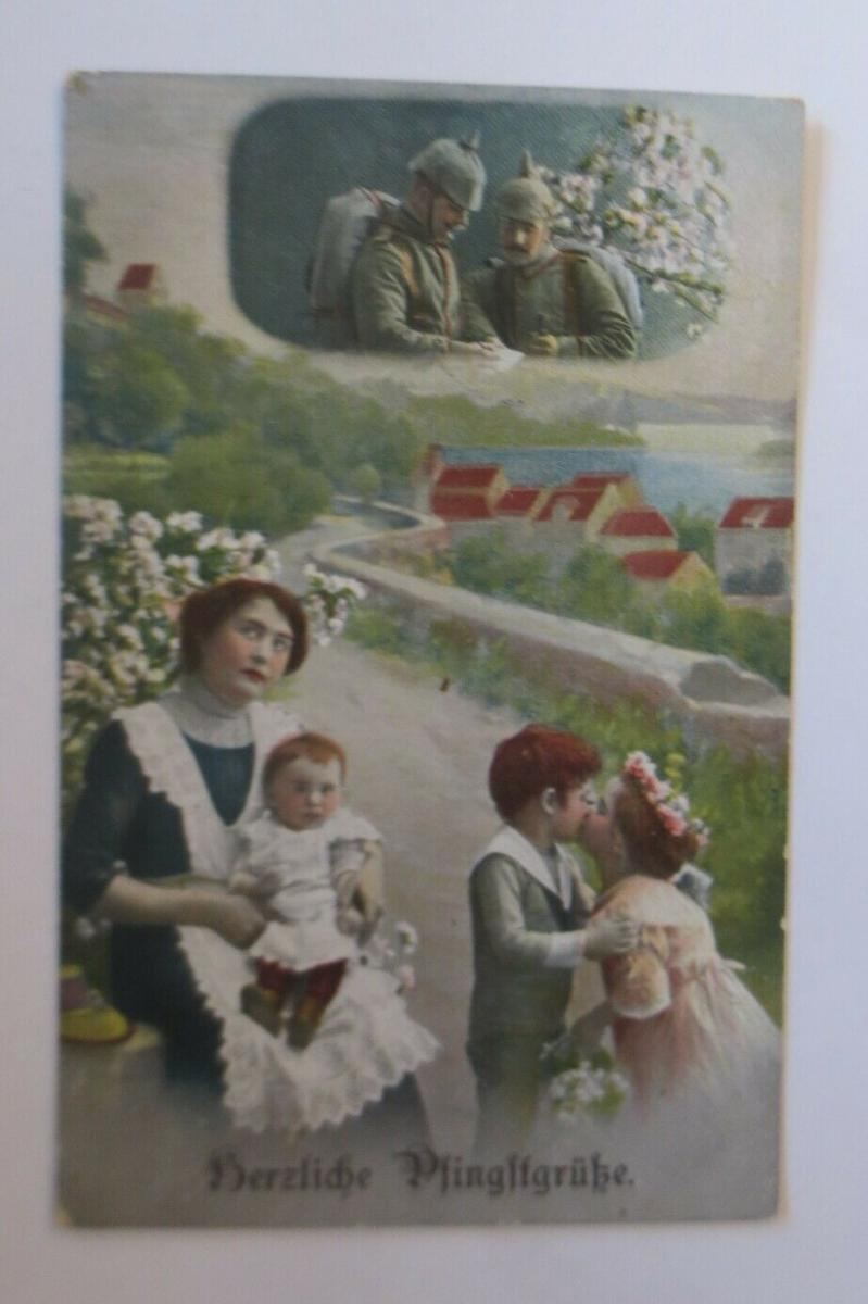 Pfingsten, Frauen, Kinder, Mode,    1915  ♥ (23859) 0