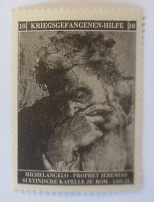 Vignetten Deutschland Kriegsgefangenen-Hilfe, Michelangelo ♥ (53891) 0