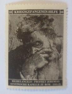 Vignetten Deutschland Kriegsgefangenen-Hilfe, Michelangelo ♥ (53891)