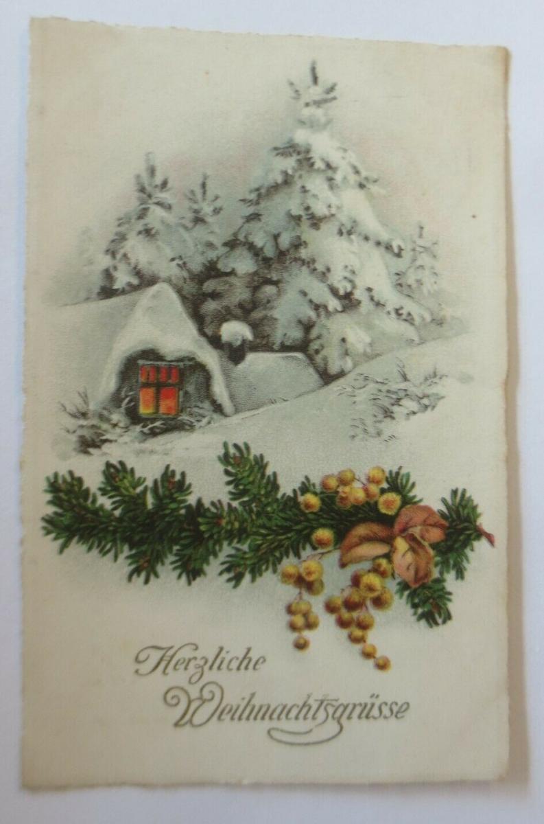 Weihnachten, Tannenzweig, Winterlandschaft, Haus,   1931 ♥ (349743) 0