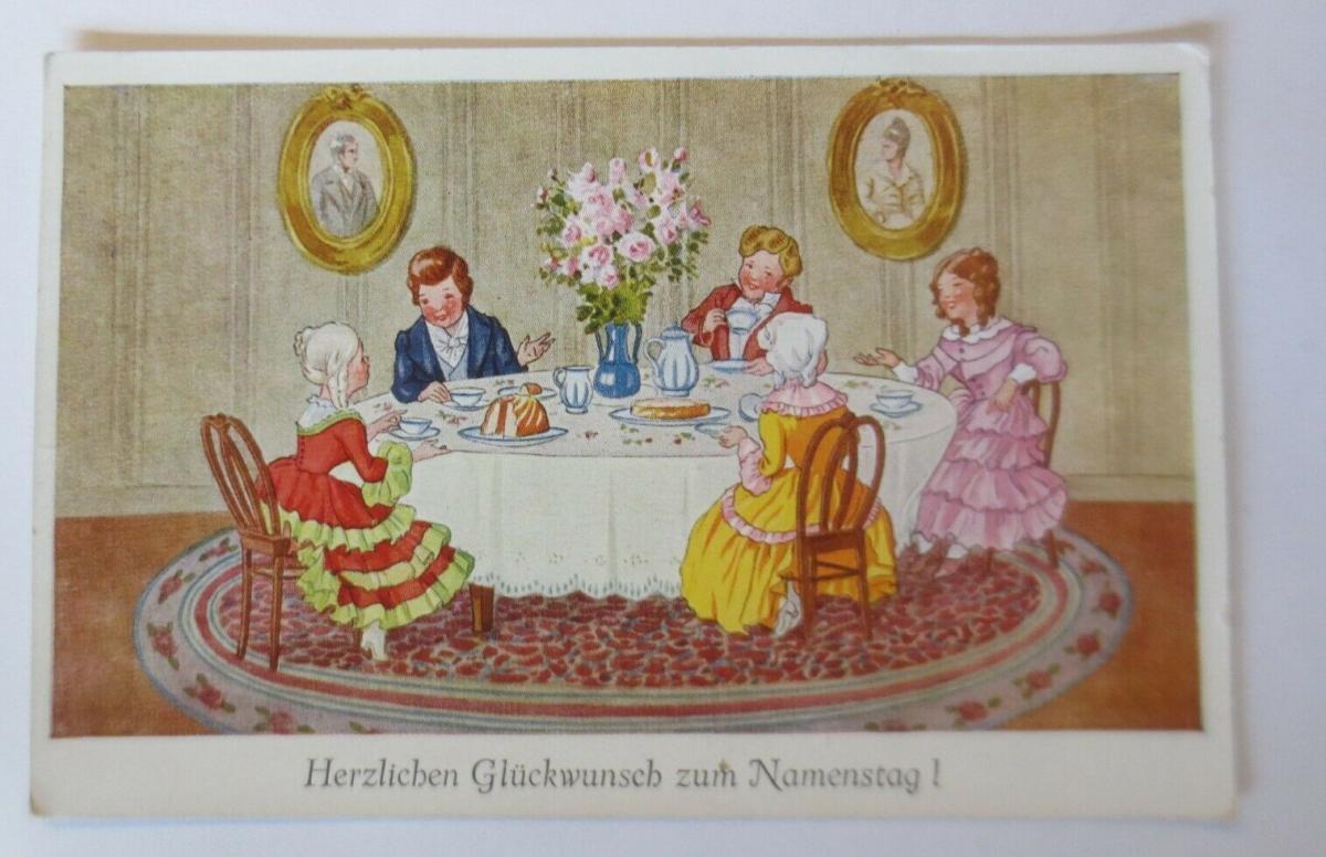 Namenstag, Kinder, Kaffee,   1930  ♥ (21824) 0
