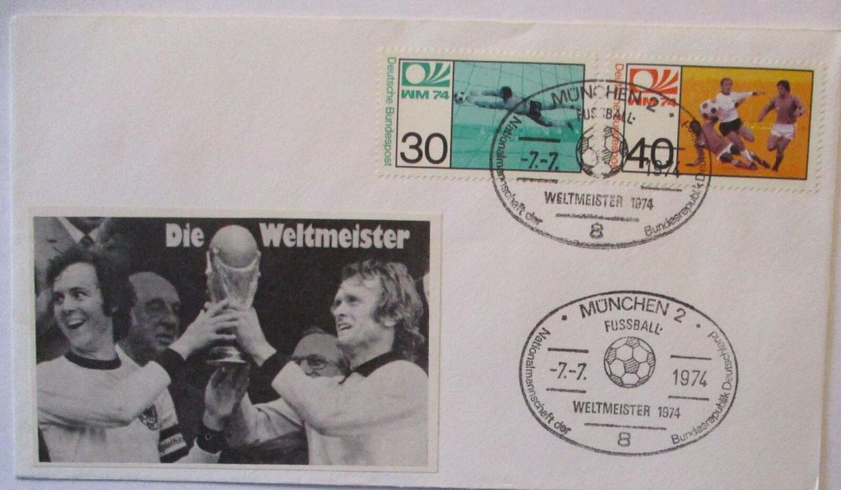 Fußball WM 1974 Franz Beckenbauer und Sepp Maier (67504) 0