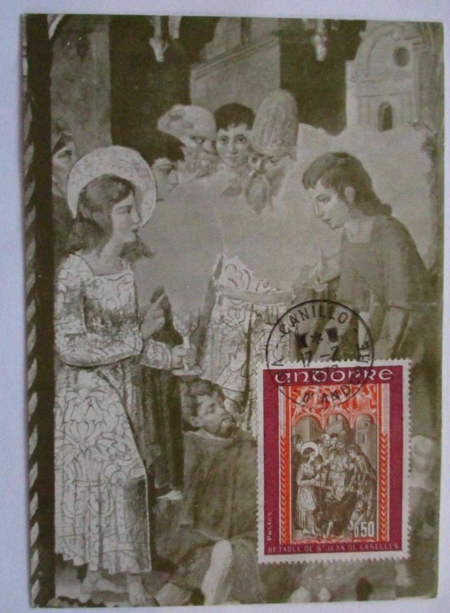 Andorra, Maximumkarte Saint Jean 1977 (52653) 0