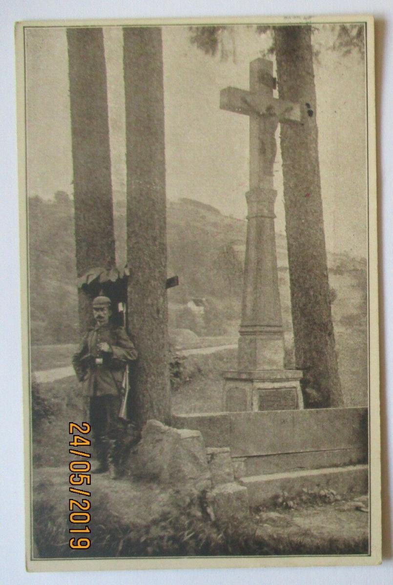 Reclam Kriegskarte, Auf einsamer Wacht Feldpoststation 57, Feldpost 1916 (42908) 0