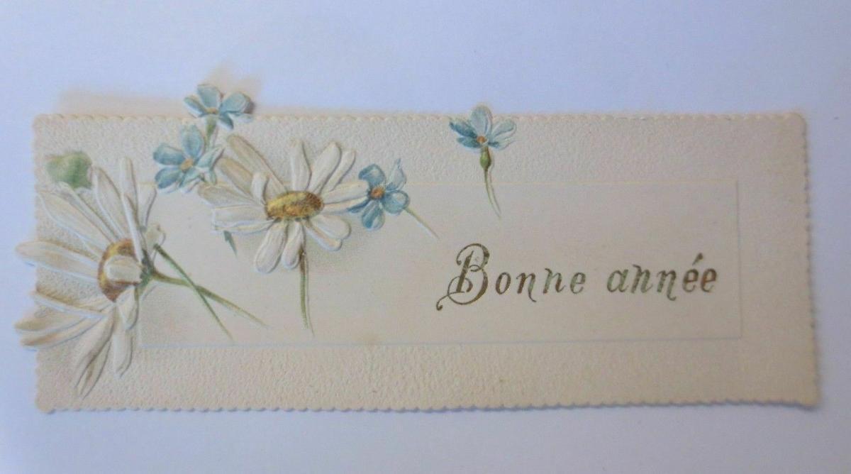 Neujahr, Blumen,  1900,    11,5 cm x 4 cm   ♥ 0