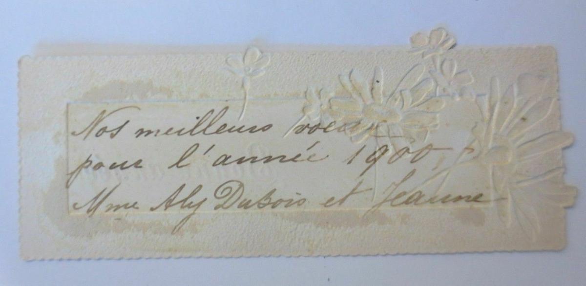 Neujahr, Blumen,  1900,    11,5 cm x 4 cm   ♥ 1