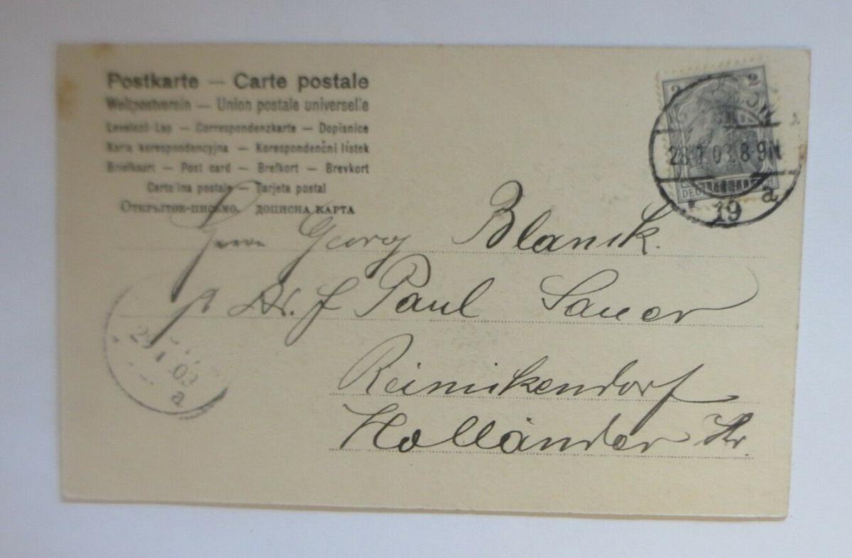 Neujahr, Wintersport, Frauen, Männer, Schlittschuhlaufen,   1903  ♥ (28480) 1