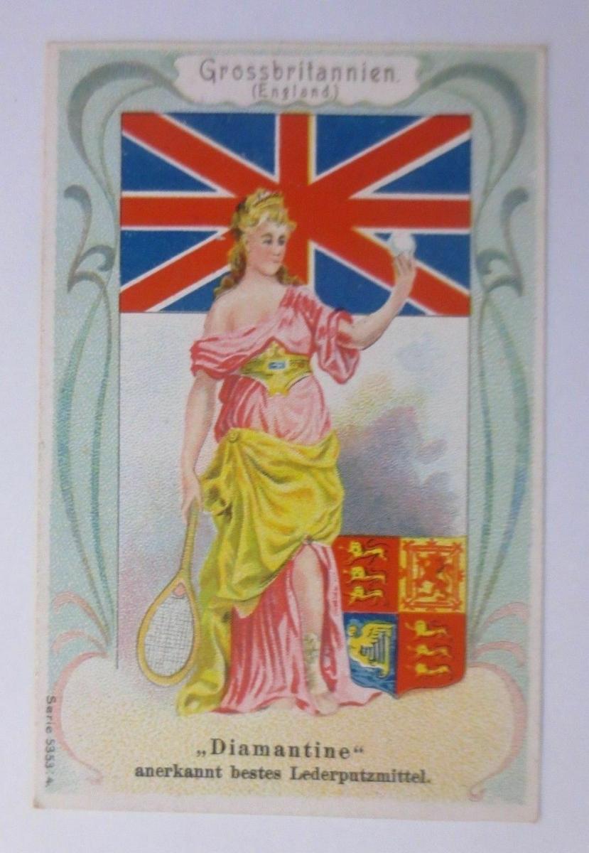 Kaufmannsbilder, Diamantine Schuhkrem,Großbritannien, Serie 5353, Nr.4 ♥ 0