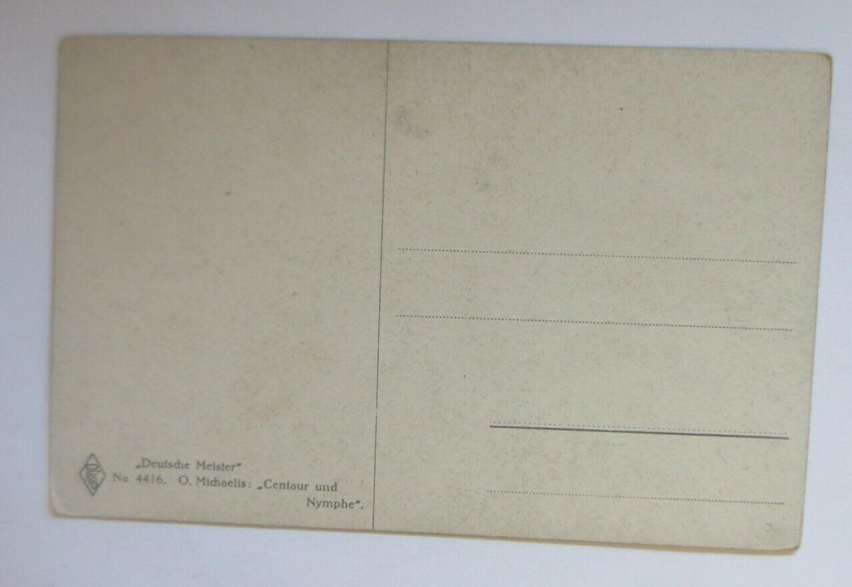 Künstlerkarte, Deutsche Meister, Centaur und Nymphe, 1920, O. Michaelis ♥(14555) 1