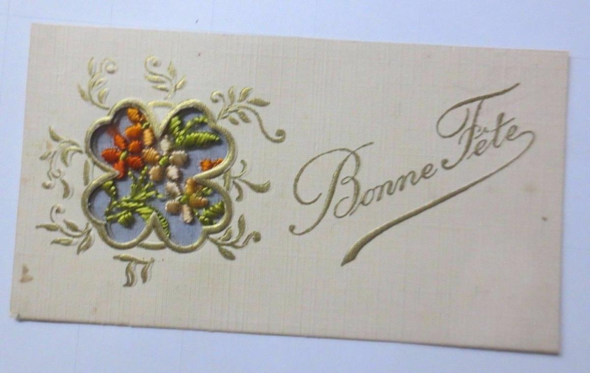 Neujahr, Sticken, Karte, Blumen       1927 ♥ (61150) 0