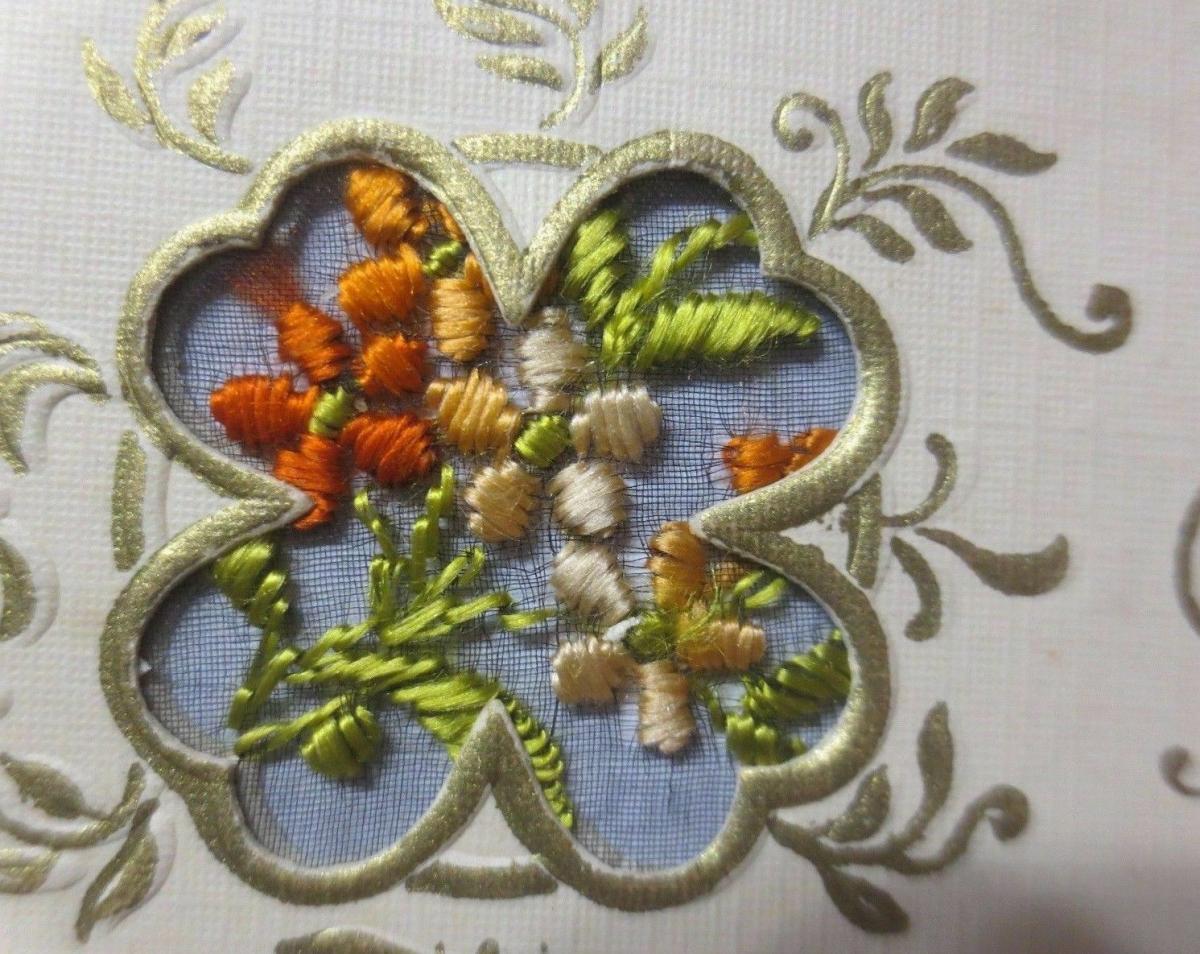 Neujahr, Sticken, Karte, Blumen       1927 ♥ (61150) 1