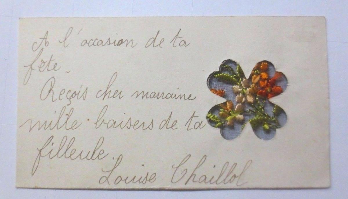 Neujahr, Sticken, Karte, Blumen       1927 ♥ (61150) 2