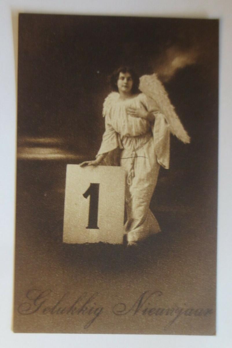Neujahr, Engel, Kalender,  1908  ♥ (26513) 0