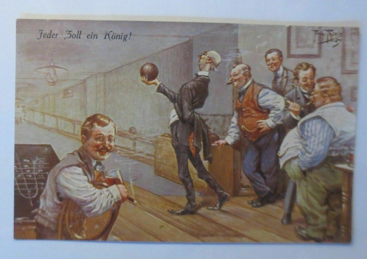 Arthur Thiele, Kegeln, Jeder Zoll ein König, 1910   ♥ 0