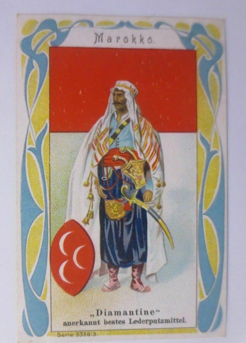 Kaufmannsbilder, Diamantine Schuhkrem, Marokko, Serie 5358, Nr.3 ♥ 0