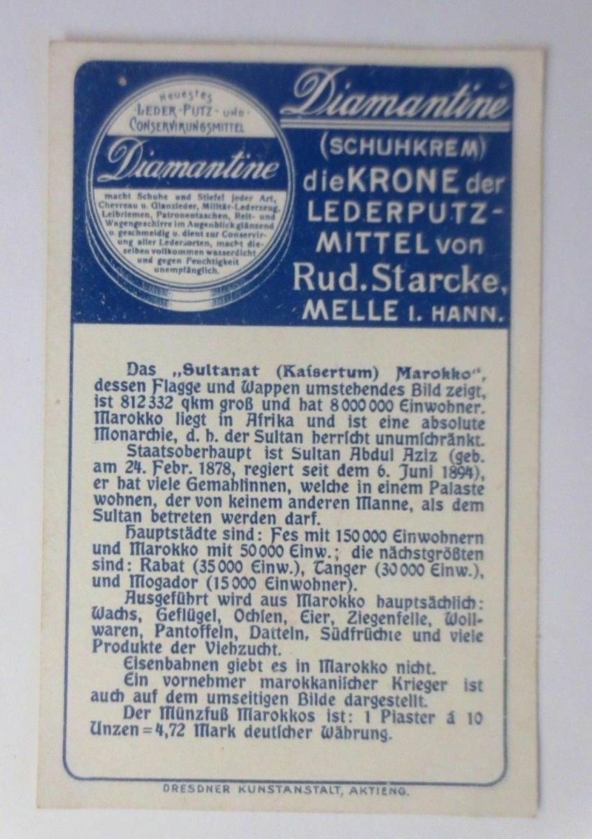 Kaufmannsbilder, Diamantine Schuhkrem, Marokko, Serie 5358, Nr.3 ♥ 1