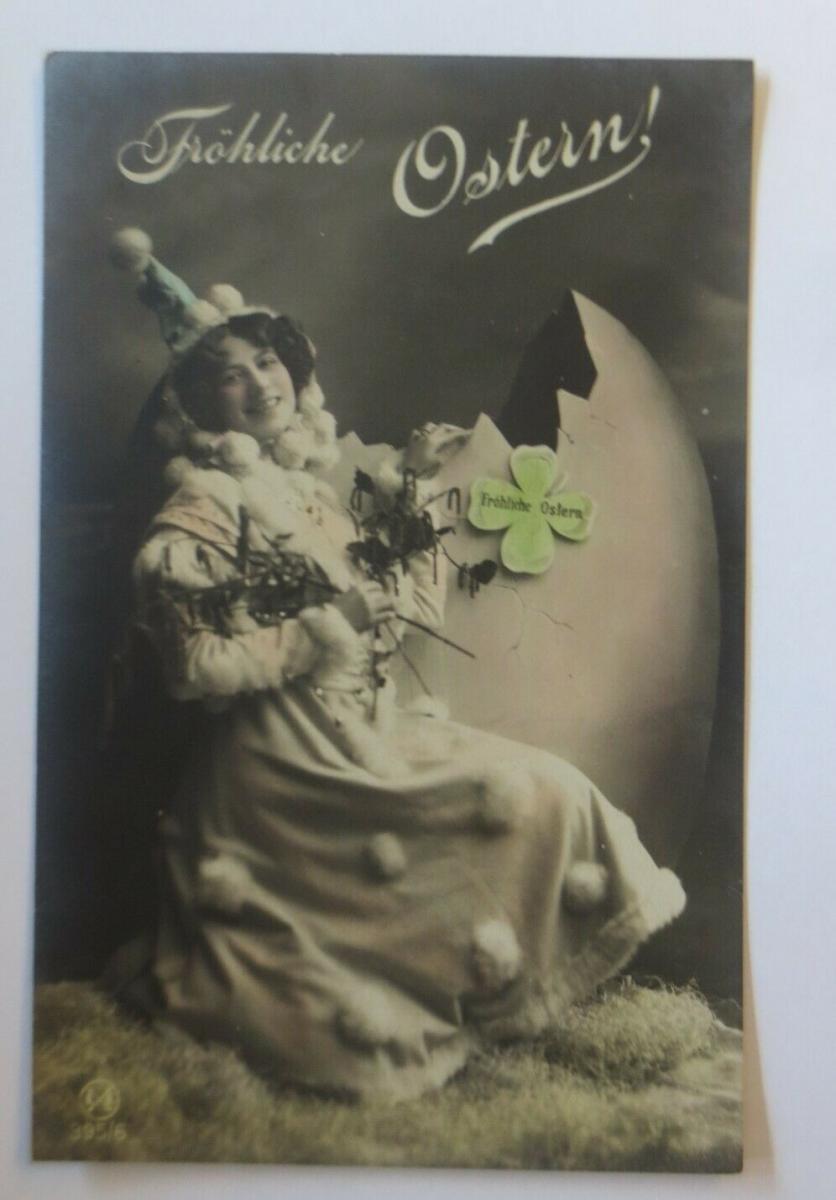 Neujahr, Frauen, Mode, Mantel, Kleeblatt,   1910  ♥ (26512) 0