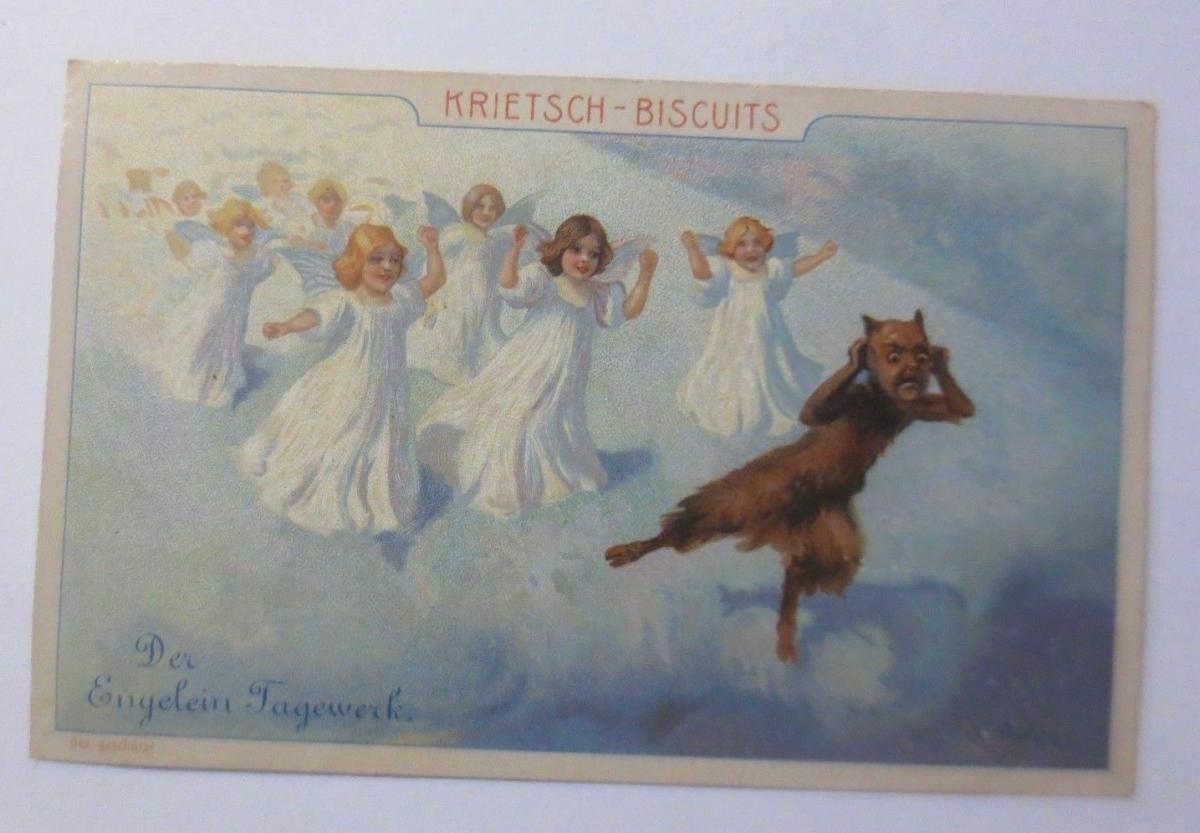 Kaufmannsbilder, Krietsch-Biscuits, Des Engelein Tagewerk, aus Wurzen ♥ 0