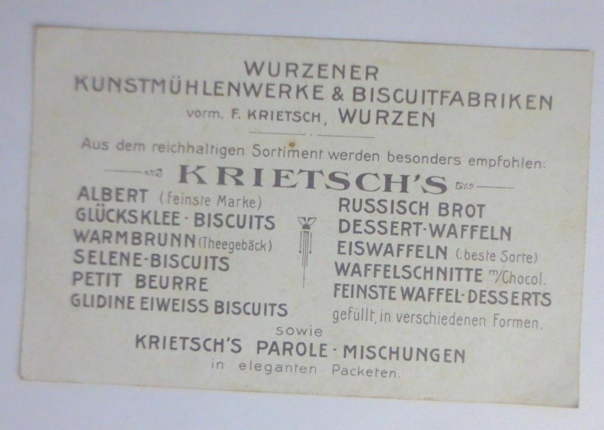 Kaufmannsbilder, Krietsch-Biscuits, Des Engelein Tagewerk, aus Wurzen ♥ 1