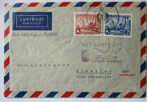 DDR Leipziger Messe Luftpost Leipzig Moskau 1956 (49875)