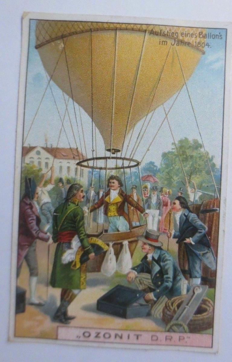 Kaufmannsbilder, Ozonit Waschmittel, Luftschifffahrt Nr. 1 ♥ 0