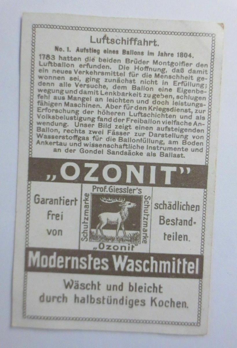 Kaufmannsbilder, Ozonit Waschmittel, Luftschifffahrt Nr. 1 ♥ 1