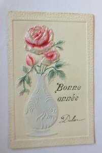 Neujahr, Rosen, Vase,   1900 ♥ (28798)