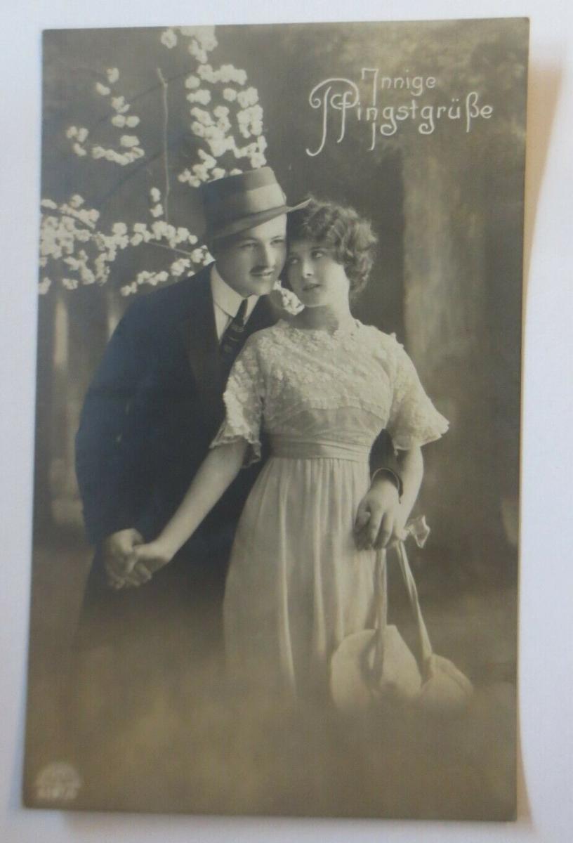 Pfingsten, Frauen, Männer, Mode,   1908  ♥ (26396) 0
