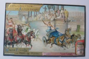 Liebig, Serie 449, Festlichkeiten im Alterthum, Wagen Rennen Circus Rom♥