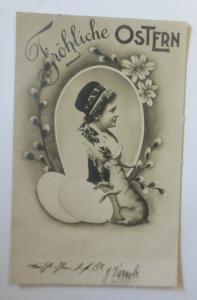 Ostern, Frauen, Mode, Korb, Eier,   1902  ♥ (2219)