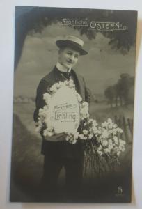 Neujahr, Männer, Mode, Osterei, Blumen,   1909  ♥ (24942)