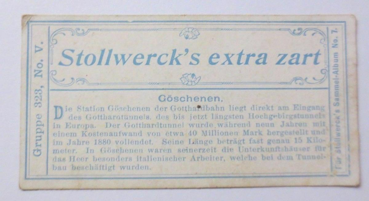 Stollwerck, Gruppe 324,  Nr.5,   Album  Nr.7,  Schweiz II. ♥ 1