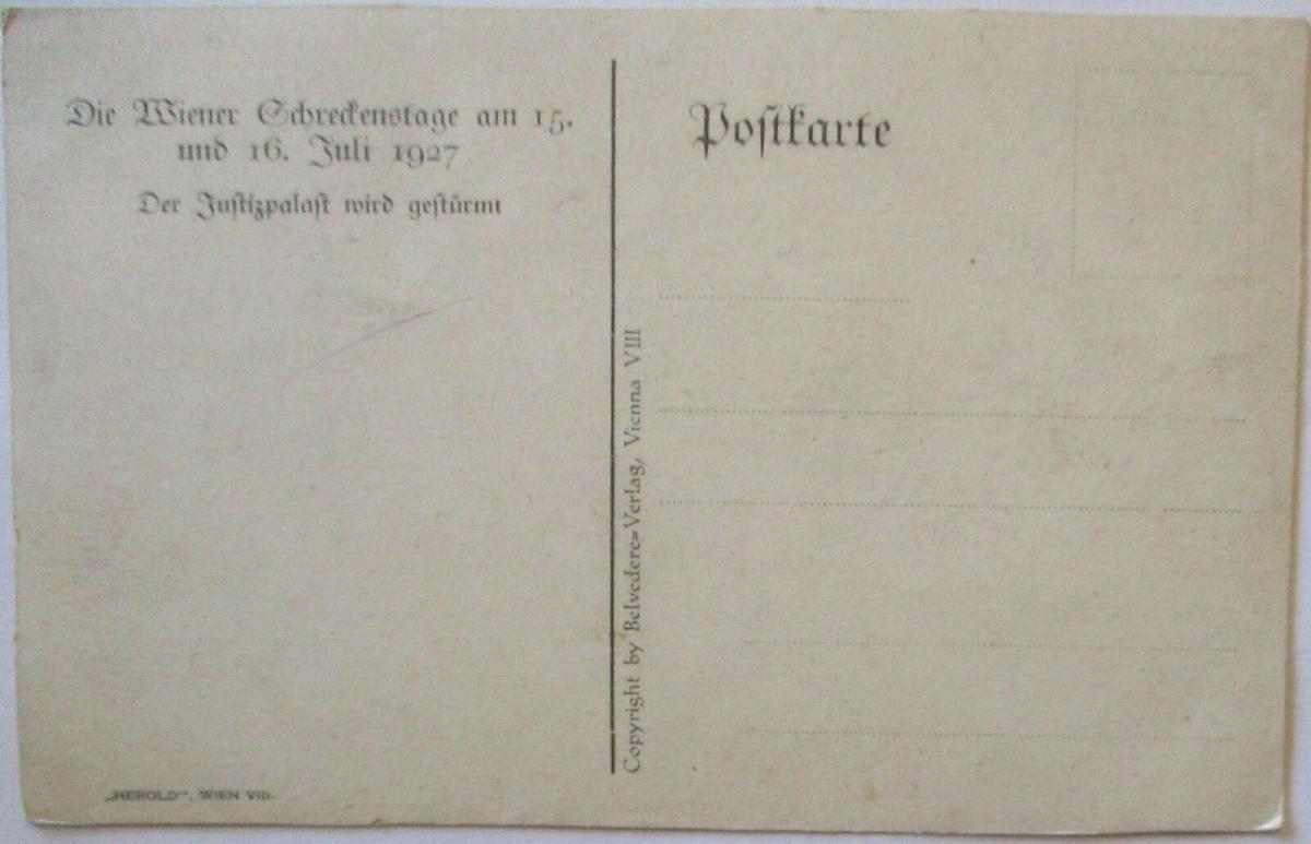 Österreich Wien Unruhen 1927, Sturm auf den Justizpalast (44262) 1