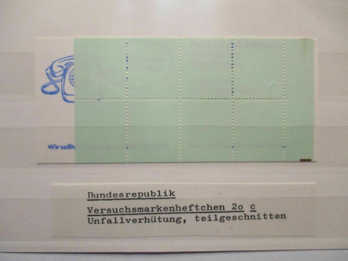 Bund, Versuchsmarkenheftchen 20 c postfrisch (49299) 0