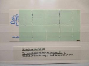 Bund, Versuchsmarkenheftchen 20 c postfrisch (49299)