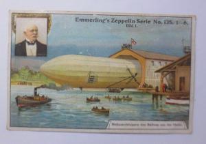 Kaufmannsbilder, Emmerlings Nudeln-Fabrikate, Zeppelin Nr.135 Bild 1 ♥