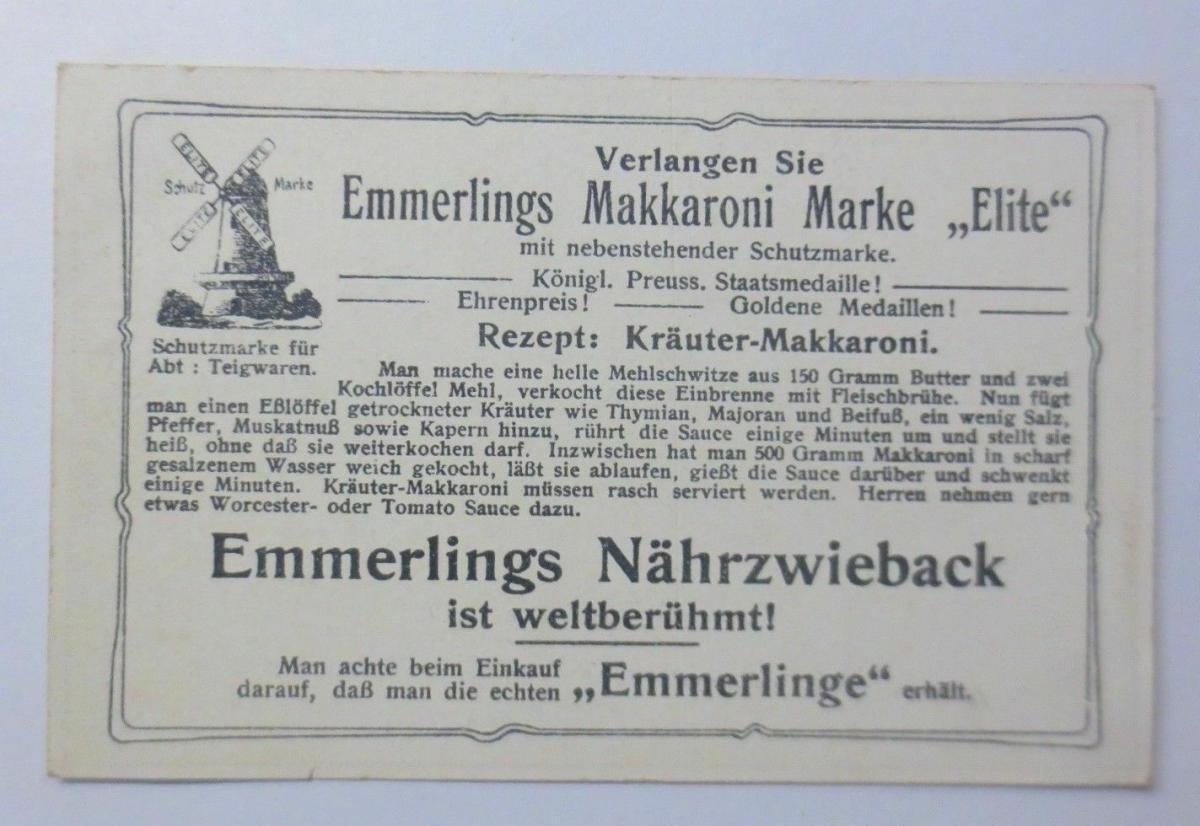 Kaufmannsbilder, Emmerlings Nudeln-Fabrikate, Zeppelin Nr.135 Bild 1 ♥ 1