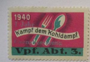 Schweiz Soldatenmarke Vpf. Abt. 3, Kampf dem Kohldampf (21756)