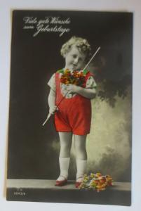 Geburtstag, Kinder, Mode, Blumen,  1931  ♥ (6875)