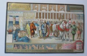 Liebig, Serie 449, Festlichkeiten im Alterthum, Theater in Athen ♥