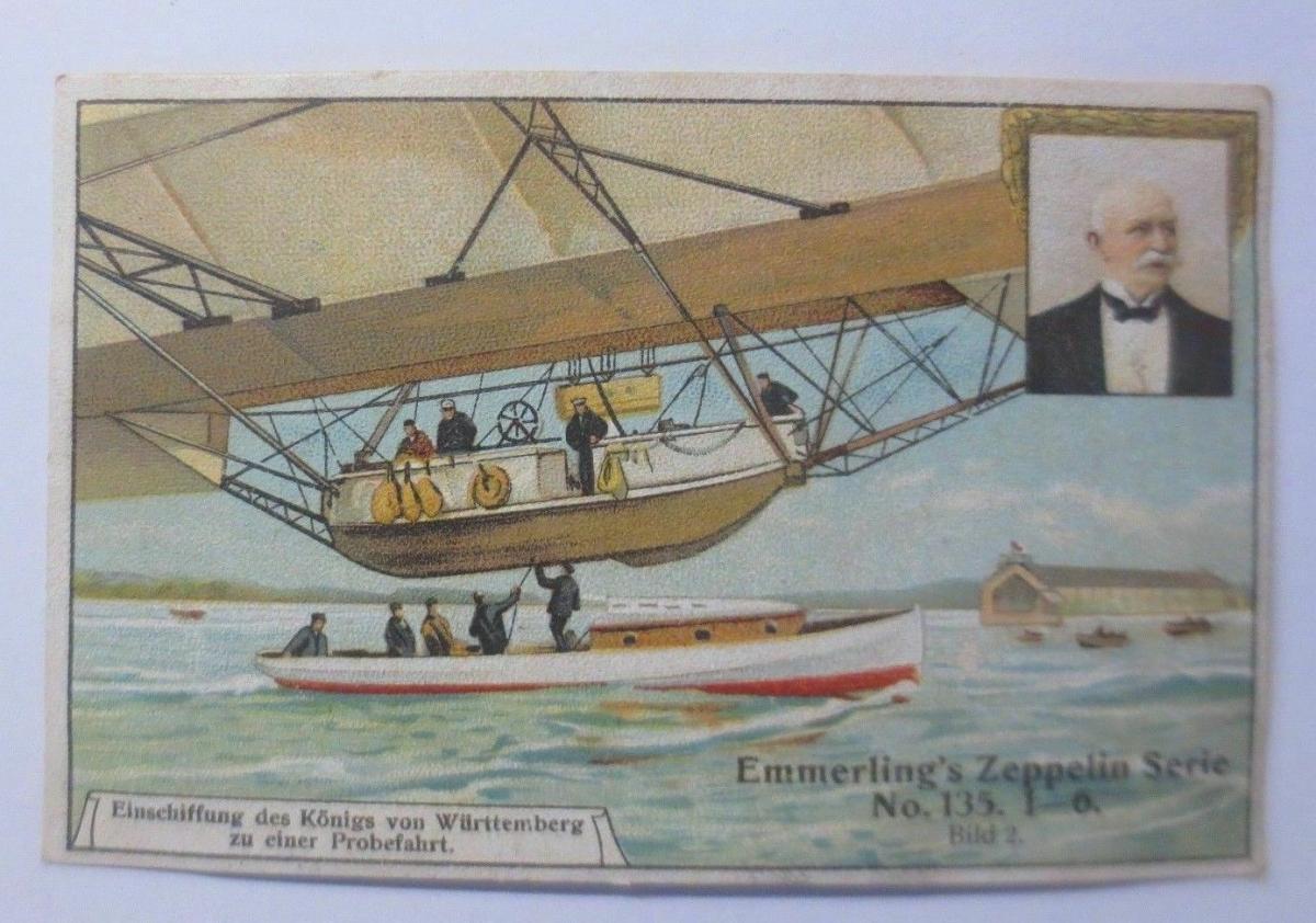 Kaufmannsbilder, Emmerlings Nudeln-Fabrikate, Zeppelin Nr.135 Bild 2 ♥ 0