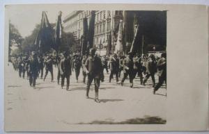 Österreich, Parade, Fahnen, Fotokarte ca. 1920