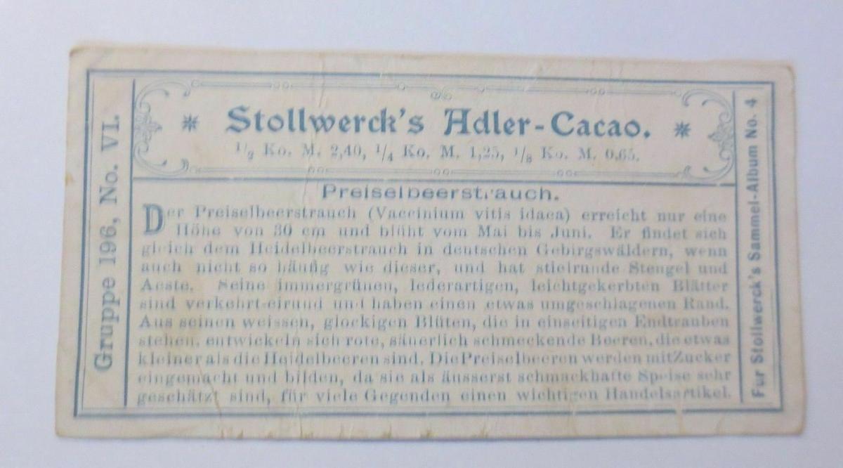 Stollwerck, Gruppe 196, Nr.6, Album ,Nr.4, Essbare Bären ♥ 1