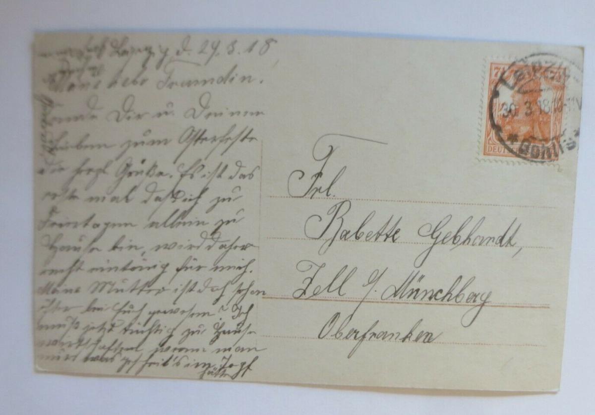 Ostern, Frauen, Mode, Weidenkätzchen,   1918  ♥ (4043) 1