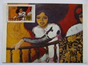 Frankreich, Maximumkarte Kunst 1975 (48291)